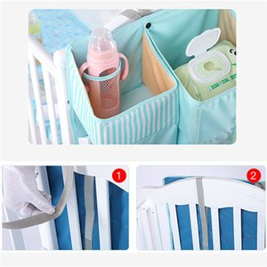 Portable Baby Crib Organizer Bed Hanging Bag for Baby Essentials Diaper Storage Cradle Bag Bedding Set Diaper Caddy