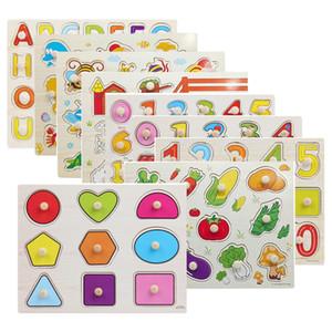 30 cm kind frühe lernspielzeug baby hand greifen holz puzzle spielzeug alphabet und digit lernen bildung kind holz puzzle spielzeug