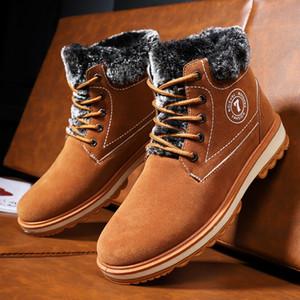 الرجال أحذية الرجال أحذية الثلوج عارضة أزياء الأزياء والأحذية الدافئة في فصل الشتاء الرجال مريحة مساعدة عالية مارتن الأحذية