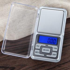 جديد وصول 500 جرام / 0.01 جرام البسيطة الجيب الرقمية مقياس مجوهرات وزنها التوازن وظيفة العد الأزرق lcd g / tl / أوقية / ط م