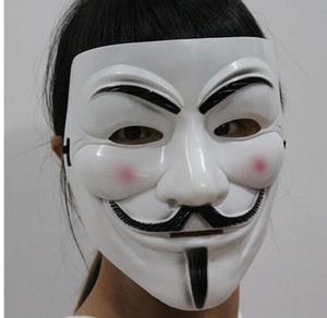 Neue Weihnachten Halloween Volto Maske Partei Cosplay Halloween Party Guy Fawkes V für Vendetta Anonymous Erwachsene Partei Maske Dekorationen