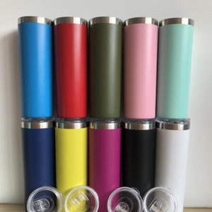 36 color 20oz 30oz Skinny stainless steel Insulated double wall Vacuum Skinny coffee Tumbler Mug with Lids