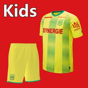 2019 20 Nueva Jersey FC Nantes fútbol niños Kit fija 19 2020 FC Nantes caseros chicos jóvenes amarillo Niños camiseta de fútbol uniformes