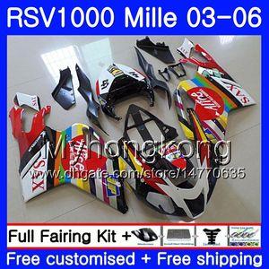 Aprilia RSV 1000R 1000 RV60 Için kırmızı siyah sıcak gövde Mille RSV1000 R RR 03 04 05 06 316HM.20 RSV1000RR RSV1000R 2003 2004 2005 2006