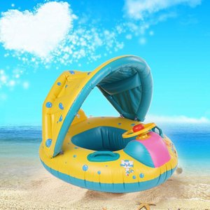 Anillo Playa segura inflable infantil Piscina Baby PVC Natación infantil del flotador del asiento ajustable Parasol piscina
