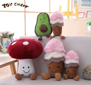 TOY CHEST Brand 2019 Best Selling Popular Wholesale 100% Cotton Fruit Plush Toy Avocado Mushroom Ice Cream Cute Children Birthday Present