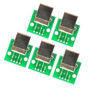 5 Pièces Conseil USB Type B femelle Eclater DIP Connecteur accessoire d'imprimante