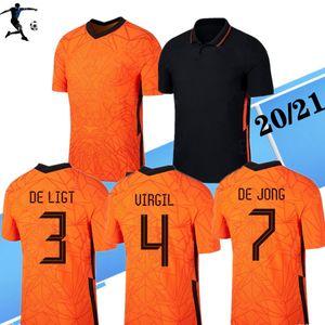 NUEVO 2020 Holanda jerseys del fútbol camiseta de fútbol UEFA Euro DE JONG Holanda Van Dijk VIRGILIO las mujeres camiseta de fútbol MEMPHIS PROMES niños
