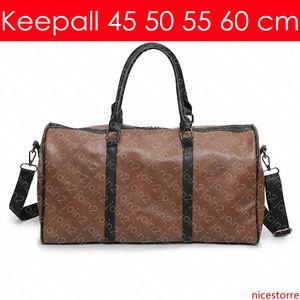 keepall لBANDOULIERE 60 55 50 45 سم مصمم أزياء النساء الرجال الصورة الرمزية السفر القماش الخشن حقيبة فاخرة حمل المتداول Softsided الأمتعة اكسسوارات M41414