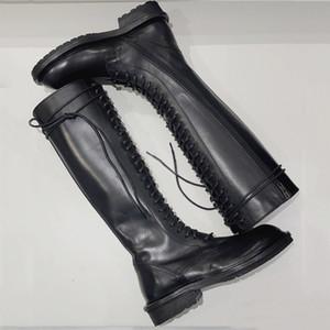 Hot Sale-neue heiße Verkauf Art und Schuhe Damen Stiefel über Knie-Aufladungen Martin dünne Knight Boots Western-Stil