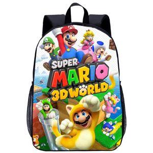 어린 소녀 소년 청소년을위한 SUPER MARIO 귀여운 만화 가방 어린이 학교 배낭 사랑스러운 여성 가방 최고의 선물