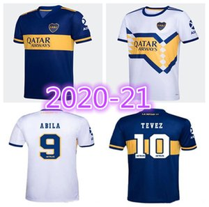 Camiseta Boca Juniors maglia da calcio 20 21 DE ROSSI TEVEZ MARADONA MAURO ABILA 2020 2021 SALVIO lontano maglia da calcio bianco Kit Uomo Bambini insieme