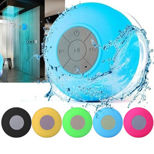 Mini portátil Subwoofer chuveiro Waterproof sem fio Bluetooth Speaker Para iPhone Samsung Car Handsfree Receba Call Music sucção Mic Speaker