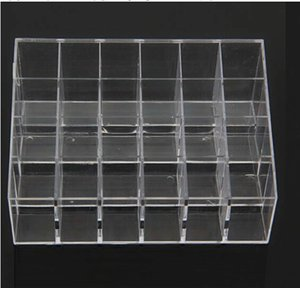 expédition acrylique transparent 24 Lipstick Display Holder Utiles stand Organisateur cosmétiques Maquillage Case Hot Sell ps0403