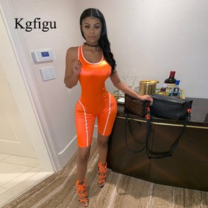 KGFIGU Sexy Short rompers Womens jumpsuit 2019 Summer playsuits 마카오 feminino 피트니스 body mujer 네온 orange 바지