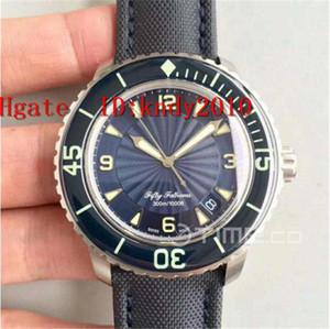 Z Fábrica Fifty Fathoms 5015D-1140-71 Mens relógio de pulso Dial Azul Aço Edição inoxidável Relógios de pulso Resistente à água A2836 Relógio mecânico