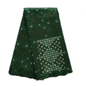 Новое поступление 5yards / серия синий порошок organgza пришивания кружева ткани для платья партии африканского свадьбы