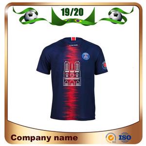 2019 Notre Dame Hatıra Sürümü Futbol Gömlek 19/20 MBAPPE CAVANI Verratti Futbol forması Notre Dame Futbol Üniformalar