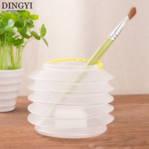 Portable Foldable Paint Brush Washer With A Sponge Holder Cleaning Case Plastic Painting Washing Bucket