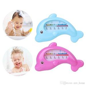 Bambino Delfino Forma Temperatura del bagno del bambino termometro acqua neonati Dolphin doccia temperatura dell'acqua Blu Rosa