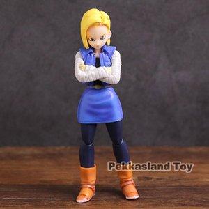 SHF Dragon Ball Z Android NO.18 Action Figure Toy Model Toy da collezione