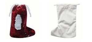 50pcs Sublime boş yılbaşı çorap yılbaşı dekorasyon Noel Baba çorap sıcak transfer baskı pullar