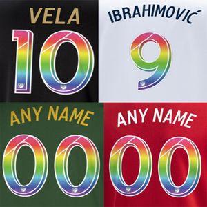 штамповочного насчитывающий футбольные значки LAFC MLS LA GALAXY печати радуга футбол nameset VELA Ибрагимович игрок впечатленный пластмассовая наклейка