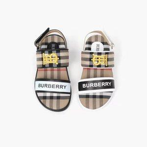 eu 26-35 sandale en cuir garçon fille plateforme robe enfant pas cher pantoufles sandales d'été garçon noir cunéiforme chaussures enfant fille de noir