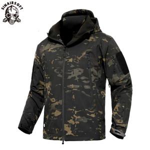 SINAIRSOFT Erkekler Askeri Taktik Softshell Ceketler Açık Suya Spor Kamuflaj Av Kamp Yürüyüş Ceket WINDBREAKER T190919