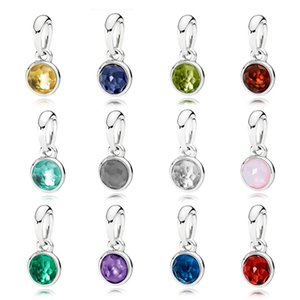 FAHMI 100% 925 Sterling Silver Charm NOVEMBER JANUARY JUNE MARCH DECEMBER OCTOBER MAY APRIL AUGUST FEBRUARY JULY SEPTEMBER NECKLACE PENDANT