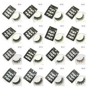 3D 거짓 속눈썹 16 가지 스타일 수제 아름다움 두꺼운 긴 부드러운 속눈썹 가짜 눈 속눈썹 속눈썹 섹시한 3Pairs / set