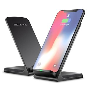 2 Coils Fast Wireless Charger Qi Wireless Charging Stand Pad For iPhone X 8 8Plus Samsung Note 8 S8 S7 all Qi-enabled Smartphones