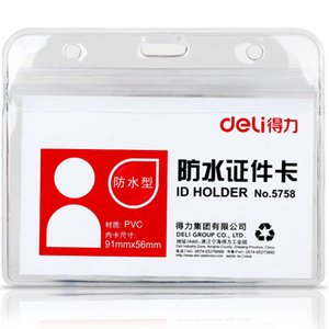 Transparent imperméable à l'eau PVC Personnel ID Cartes Titulaire Badge Case pour Access exposition Carte de Travail Livraison Gratuite