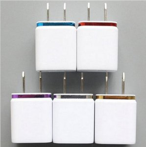 Colorful 2A+1A US Plug AC Power Adapter Home Trave Wall 2 port dual USB Charger for iPhone7 6 plus 5 for Samsung HTC 500pcs lot
