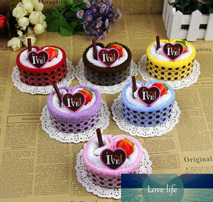 Colorful cake towel strawberry fruit cake towel as gift for valentine's Day wedding favor birthday wholesale
