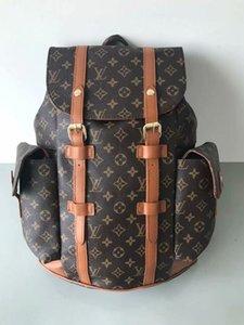 2020New Mike mochila saco de viagem pu material de grade preta backpack005 alta qualidade