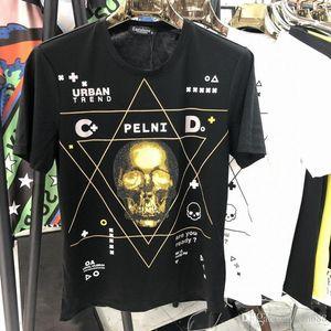 EU Free Shipping Summer New Fashion Men's T-Shirt Cotton Casual Printing Short Sleeve Round Neck T-Shirt White Black pp