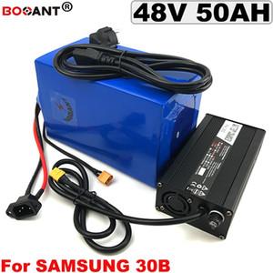 Para Bafang BBS 3000 W Motor 48 V 50AH E-Bicicleta Bateria De Lítio para Original Samsung 18650 Bicicleta Elétrica Da Bateria 48 V + 5A Carregador