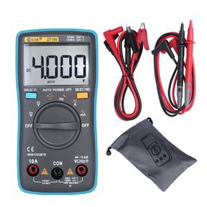 Adeeing ZT100 Dijital Multimetre 4000 Sayımlar Geri Işık AC / DC Gerilim Ampermetre Voltmetre Ohm Tester Frekans Diyot Metre