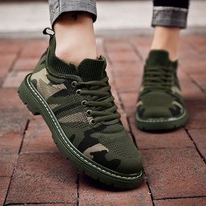Breathable Mesh Camouflage Shoes Martin Boots Men'S Tooling Shoes Men And Women Couples Casual Shoes Mesh Rubber Wear-Resistant Suitable For