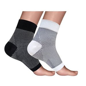 Outdoors Socks Women Men Compression Sport Socks Anti Fatigue Arch Heel Plantar Relief Black White Colors Hot