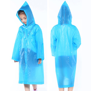 طفل مقنع المعطف الطفل الأزياء طويل معطف المطر ماء صامد للريح معطف واق من المطر رشاقته في الهواء الطلق المحمولة ملابس ضد المطر للبنين بنات VT1666