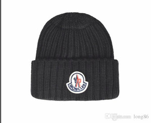 Yeni Fransa moda erkek tasarımcıları şapkalar kaput kış bere örme yün şapka artı kadife kap Skullies kalın maske Fringe Beanies şapkalar adam
