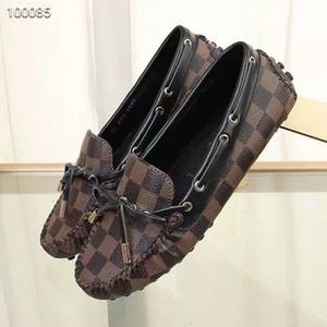 Bale düz ayakkabı kadın deri Yuvarlak Burun sığ Casual tek ayakkabı kadın lar deri yay marka bezelye ayakkabı Kadın Moda Hediyeleri