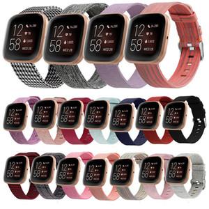 Correa de nylon para Fitbit Versa 2 Bandas Lite tela tejida tela de jeans reemplazo de la correa del reloj inteligente