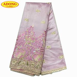 Tissu africain de dentelle de broderie de belle robe de dentelle tissu africain de haute qualité de George Wrapper avec 5 verges / pièce pour le mariage