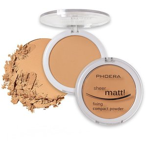 Phoera Face Powder Foundation 8 Color Silky Sheer Matte Concealer Natural Compact Firm Coloris Facial Pressed Makeup