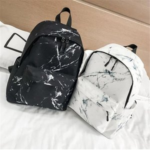 Fashion Teenager Backpack Boys Girls Marble Stone Print Backpack Rucksack Canvas Shoulder School Mochila Feminina