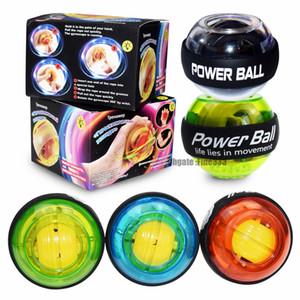 مدرب الاسترخاء الجيروسكوب الكرة عالية الجودة المعصم العضلات قوة الكرة الدوران الذراع التمارين سترينجذينير LED للياقة البدنية الكرة