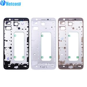 Netcosy LCD logement Moyen Cadre Faceplate Cadre Bezel pièce de rechange pour Samsung Galaxy J7 Premier ON7 (2016) G610 Tournevis